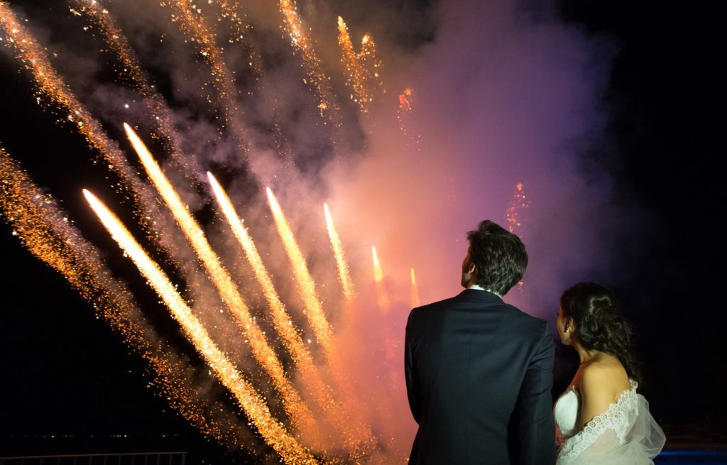 Fuochi d'artificio matrimonio. Nicola Pezzella wedding